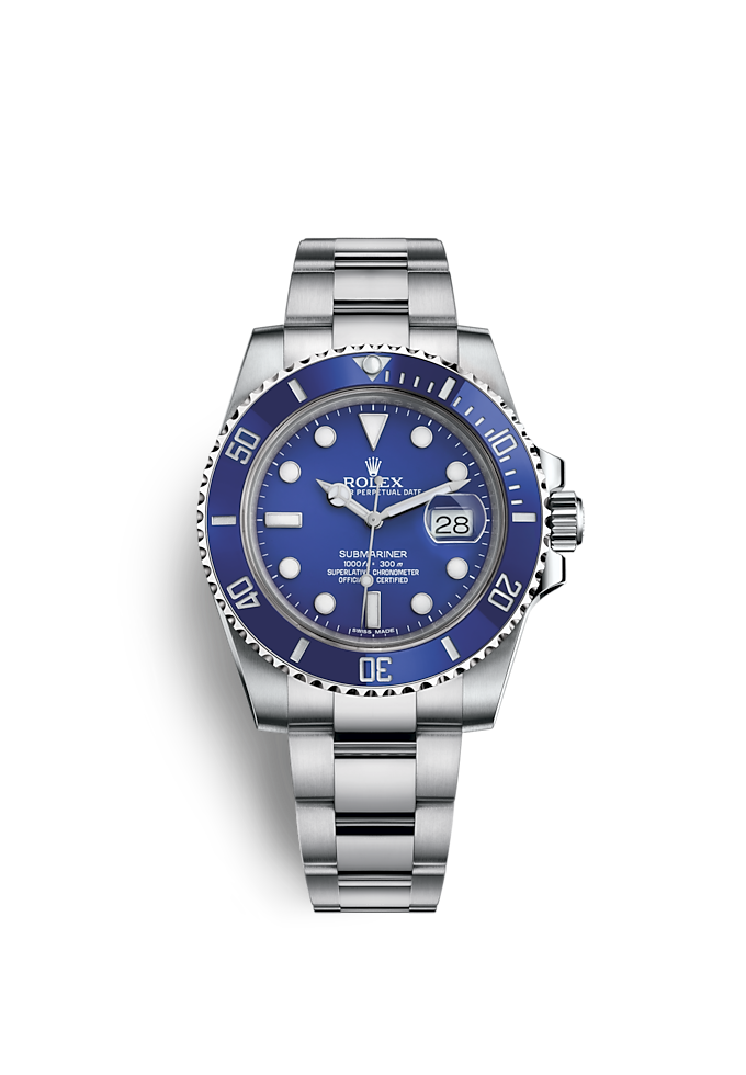 Submariner Date, Oyster, 40 mm, or gris