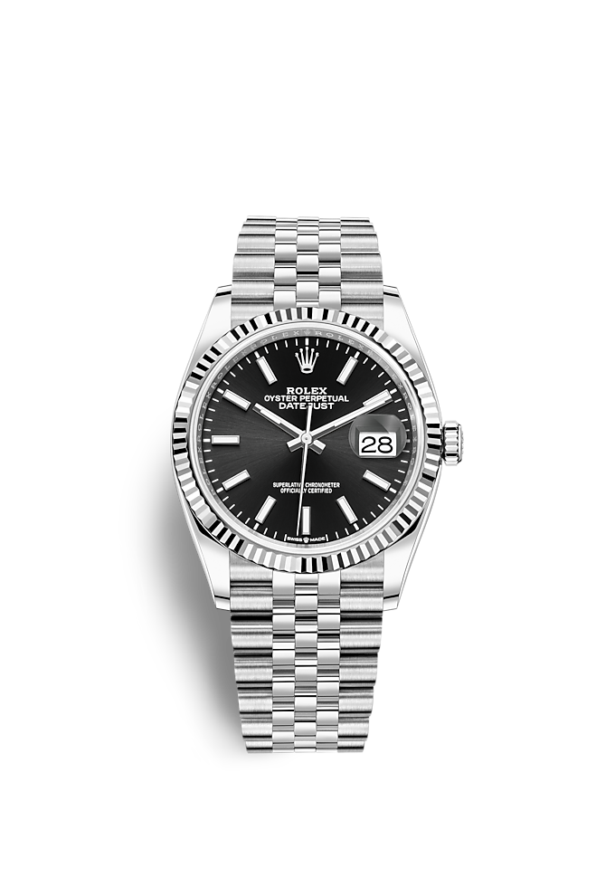 Datejust 36, Oyster, 36 мм, сталь Oystersteel и белое золото