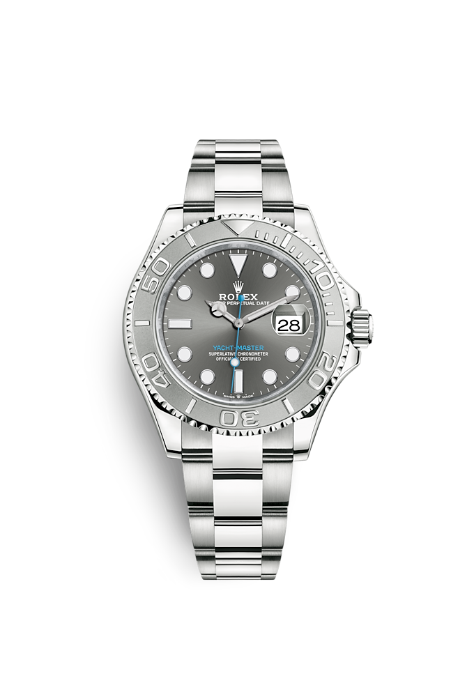 Yacht-Master 40, Oyster, 40 mm, stal Oystersteel i platyna