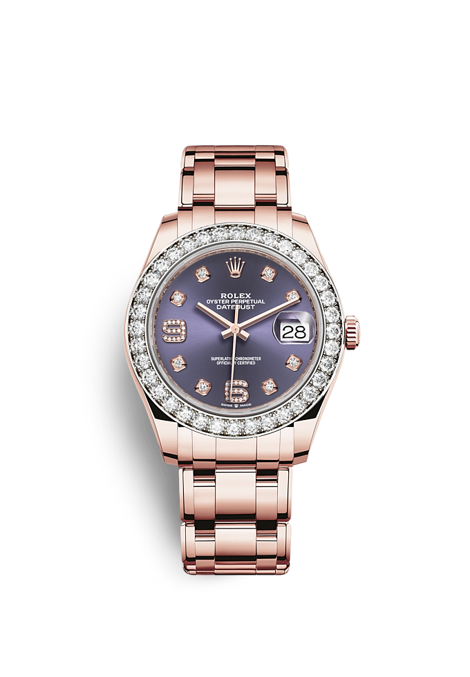 Pearlmaster 39, Oyster, 39 mm, Everose gold and diamonds