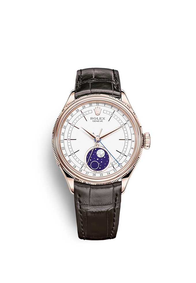 "<span lang=""en"">Cellini</span> Moonphase, 39 mm, 18 kt Everose altın, cilalı rötuş"
